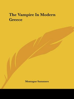 Vampire in Modern Greece