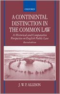 download A Continental Distinction in the Common Law : A Historical and Comparative Perspective on English Public Law book