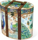 Royal Peacock Tall Oval Box Large ( 10 x 7.75 x 9) by Punch Studio: Product Image