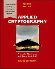 Applied Cryptography by Bruce Schneier: Book Cover