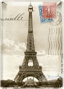Eiffel Tower Small Rectangle Tray 4x5.75 by Fringe: Product Image