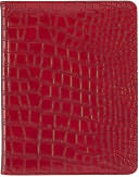 Darwin Red Croc Folio Case for iPad by Lightwedge LLC: Product Image
