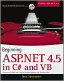 Beginning ASP.NET 4.5 by Imar Spaanjaars: NOOK Book Cover