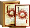 JOY TO THE WORLD TIP ON CHRISTMAS BOXED CARD by Cr Gibson: Product Image