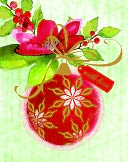 Glitter Ornament With Holly Christmas Boxed Card by Papyrus: Product Image