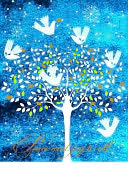 Peace And Joy Tree Christmas Boxed Card by Papyrus: Product Image
