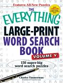The Everything Large-Print Word Search Book, Volume V by Charles Timmerman: Book Cover