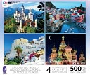 Around the World 4 in 1 Puzzle by Ceaco: Product Image