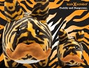 Stache Labbit 7 Inch Plush, Tiger Edition by KidRobot: Product Image