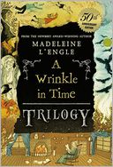 A Wrinkle in Time Trilogy by Madeleine L'Engle: Book Cover