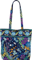 "Vera Bradley Midnight Blues Fabric Tote 15"" x 13"" by Barnes & Noble: Product Image"