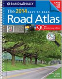 2014 Midsize Easy to Read Road atlas by Rand McNally: Book Cover