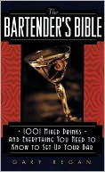 Bartender's Bible by Gary Regan: Book Cover