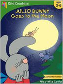 Julio Bunny Goes to the Moon by Nicoletta Costa: NOOK Kids Read to Me Cover