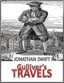 Gulliver's Travels by Jonathan Swift: NOOK Book Cover