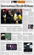 The International Herald Tribune by The New York Times Company: NOOK Newspaper Cover