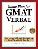 Game Plan for GMAT Verbal by Brandon Royal: Book Cover