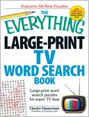 The Everything Large-Print TV Word Search Book by Charles Timmerman: Book Cover