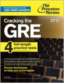 Cracking the GRE with 4 Practice Tests, 2015 Edition by Princeton Review: NOOK Book Cover