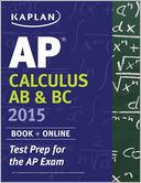 Kaplan AP Calculus AB & BC 2015 by Tamara Lefcourt Ruby: NOOK Book Cover