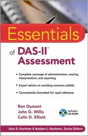 Essentials of Das-II Assessment (Includes CD-ROM) by Ron Dumont: Book Cover