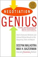 Negotiation Genius by Deepak Malhotra: Book Cover