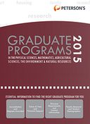 Peterson's Grad Programs in Physical Sciences, Math, Ag Sciences, Envir & Natural Res 20154 (Grad 4) by Peterson's: NOOK Book Cover