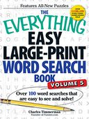 The Everything Easy Large-Print Word Search Book, Volume 5 by Charles Timmerman: Book Cover