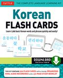 Korean Flash Cards by Soohee Kim: NOOK Book Cover