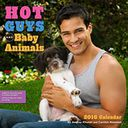 2016 Hot Guys and Baby Animals Wall Calendar by Audrey Khuner: Calendar Cover