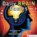 2016 Daily Brain Games Day-to-Day Calendar by HAPPYneuron: Calendar Cover