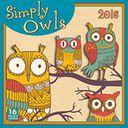 2016 Simply Owls Wall Calendar by Next Day Art: Calendar Cover