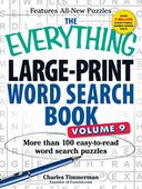 The Everything Large-Print Word Search Book, Volume 9 by Charles Timmerman: Book Cover