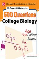 McGraw-Hill Education 500 College Biology Questions by Robert Stewart: NOOK Book Cover