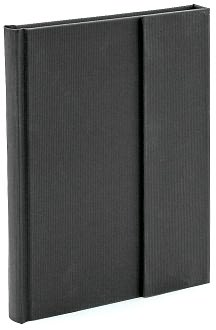 Black Texture Magnetic Wrap Journal