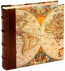 Antique Map and Brown Leather Photo Album by Barnes & Noble: Product Image