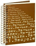 100% Recycled Jumbo Kraft 4 R's Spiral Journal 7x9 by Mirage Paper Co.: Product Image