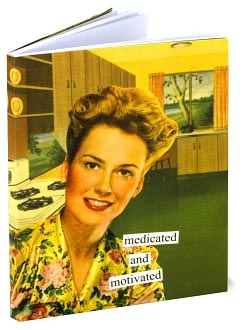 Medicated and Motivated Journal by Anne Taintor: Product Image