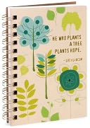 100% Recycled He Who Plants a Tree Natural Spiral Journal 5x7 by Mirage Paper Co.: Product Image