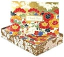 Box Card Floral Gold Thank You Set of 12 by Papyrus: Product Image