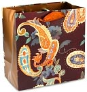 Paisley Chocolate Multi Small Gift Bag by Papyrus: Product Image