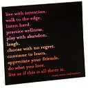 Magnet - Live With Intention by Quotable Cards: Product Image