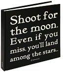 Shoot for the Moon Black & White Square Quotable Journal 8x8 by Quotable Cards: Product Image