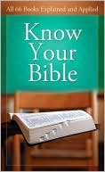 Know Your Bible by Paul Kent: Book Cover