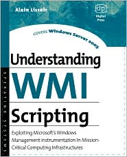 Understanding WMI Scripting by Alain Lissoir: Book Cover