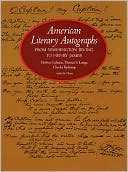 American Literary Autographs from Washington Irving to Henry James by Herbert Cahoon: Book Cover