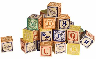 Classic Alphabet Blocks by Lindenwood: Product Image