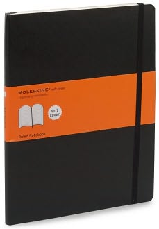 Black Moleskine Ruled Pages Soft