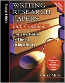 Writing Research with Confidence Teachers Guide with CD by Sheila Moss: Book Cover