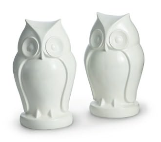 "White Owl Resin Bookends - Set of 2 (7.25""x 4"") by Barnes & Noble: Product Image"